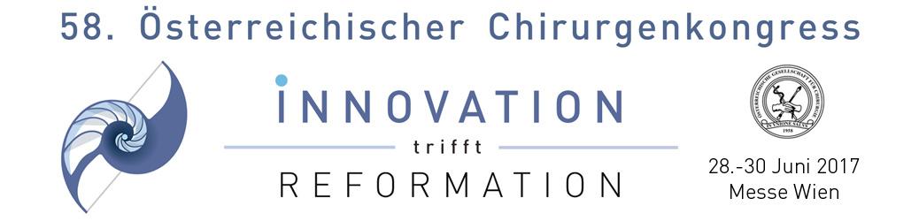 58. Österreichischer Chirurgenkongress – 28.-30. Juni 2017